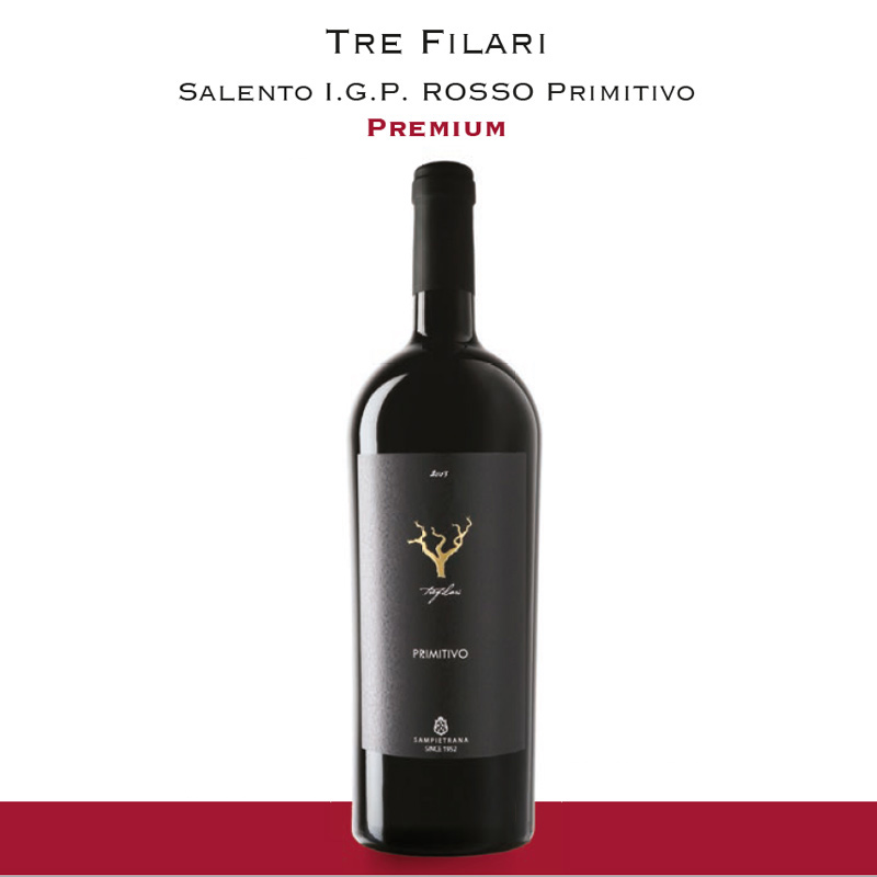 Tre Filari | Salento I.G.P. Rosso Primitivo
