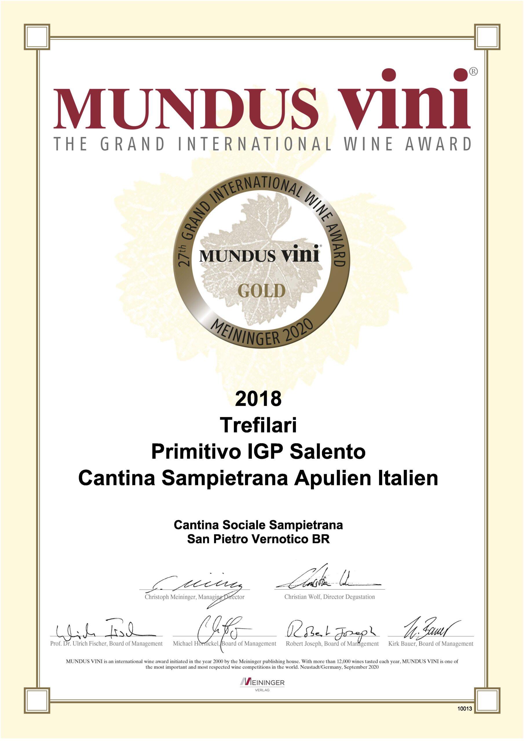 MUNDUS VINI GOLD TREFILARI 2018_2020