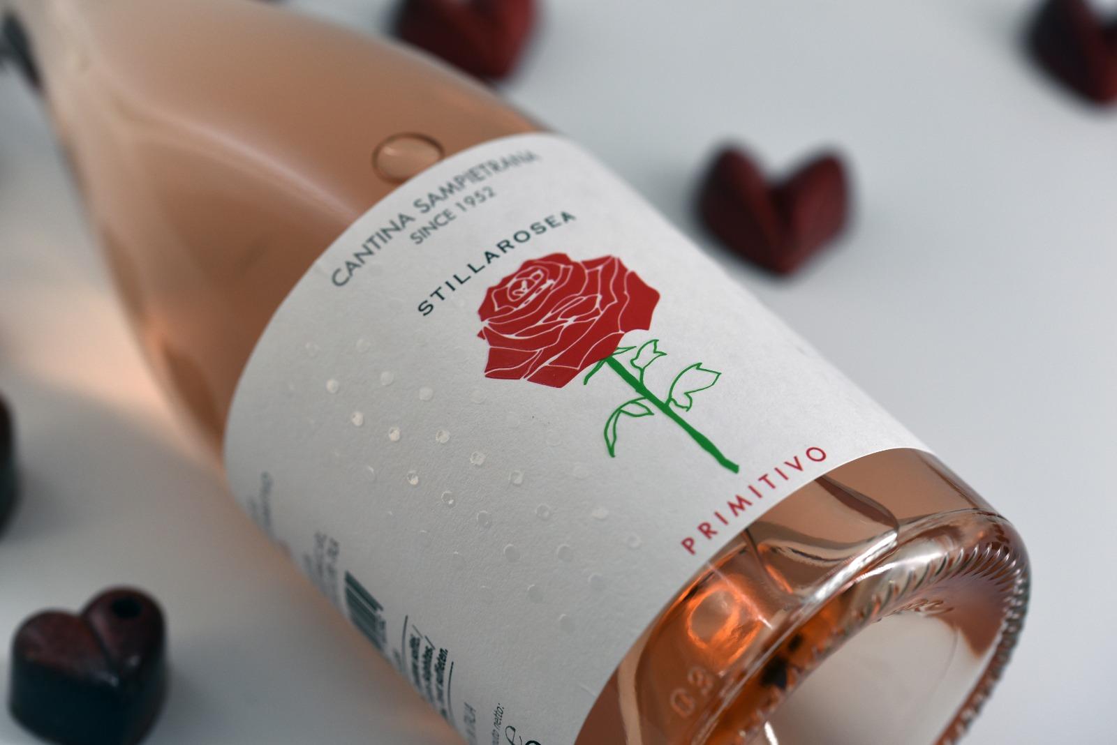 """Box """"Una Rosa per te"""" Stilla Rosea Primitivo GIFT"""